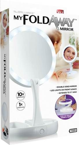 As Seen On Tv My Foldaway Led Lighted Double Sided Mirror