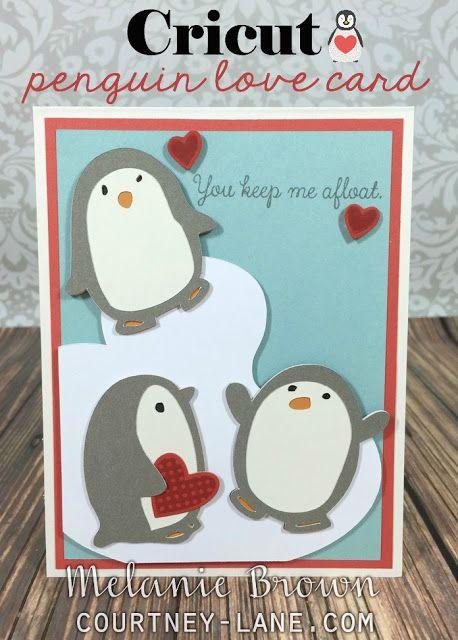 Cricut Penguin Love Card