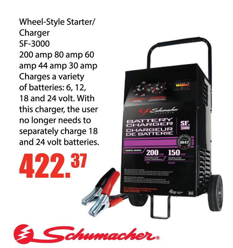 Schumacher WheelStyle Starter Charger SF3000 on sale