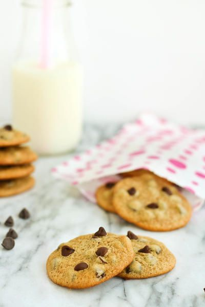 Malted chocolate chip cookies are pretty darn irresistible. Grab a glass of milk and go to town!