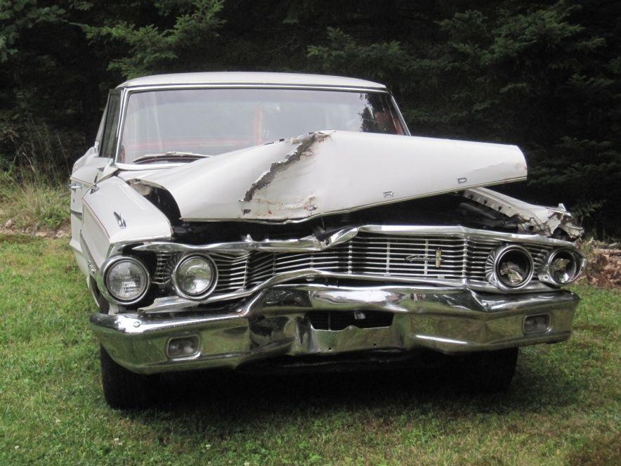 Crashed 1964 Galaxie 500 For Parts Car Crash Galaxie 500 Galaxie