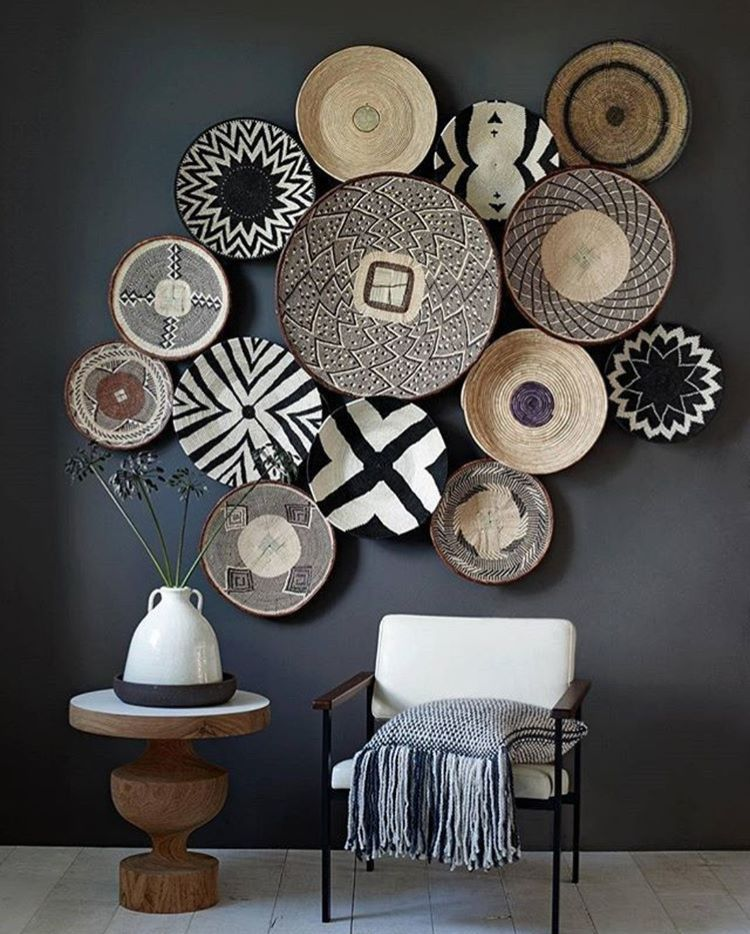 African Basket Wall Feature Home Decor Basket Wall Decor Decor