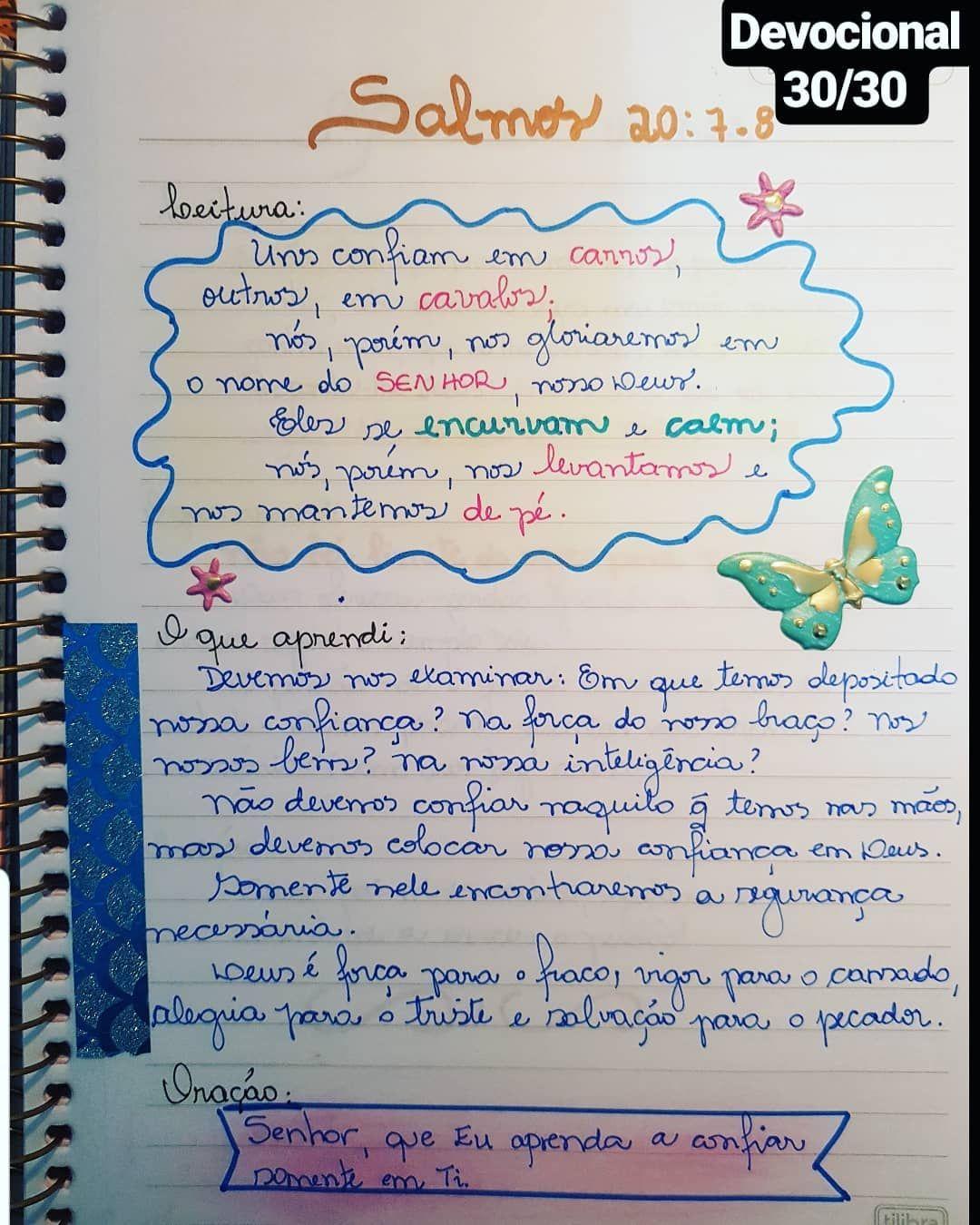 Devocional Diario 30 30 Em Que Voce Deposita A Sua Confianca