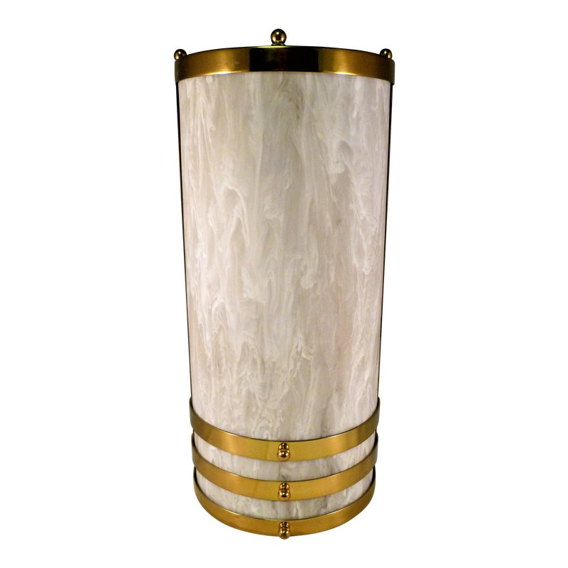 1990s Baldinger Architectural Lighting Half Cylinder Sconce
