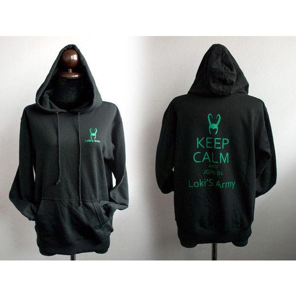 e8b42712 Loki Hoodie : Loki's Army small logo plus Keep Calm Loki's army on... (53  AUD) ❤ liked on Polyvore featuring tops, hoodies, jackets, avengers, ...