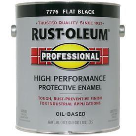 Rust-Oleum Professional Black Flat Oil-Based Enamel Interior/exterior Paint (Actual Net Contents: 128-Fl Oz) 7776402 Rust-Oleum Professional Black Flat Oil-Based Enamel Interior/Exterior Paint (Actual Net Contents: 128-Fl Oz) 7776402 Oil Painting oil based enamel paint