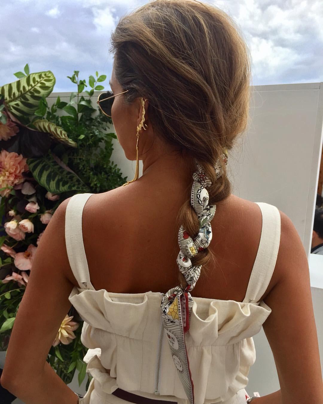 Hair Braid With Scarf Rozalia Russian Scarf Dior Top Steele
