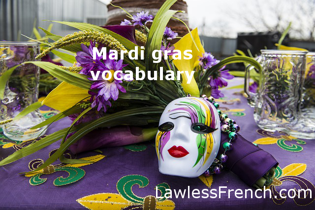 Happy Mardi Gras - Laissez les bons temps rouler !    Learn some useful vocab: http://www.lawlessfrench.com/vocabulary/mardi-gras/