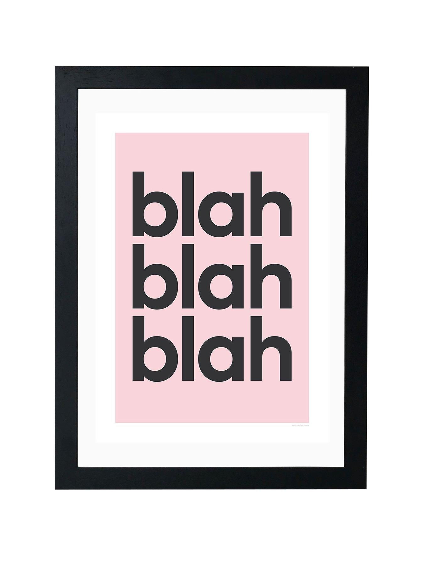 Blah Blah Blah Typography Poster // Print A5 A4 A3 Wall Art Decor