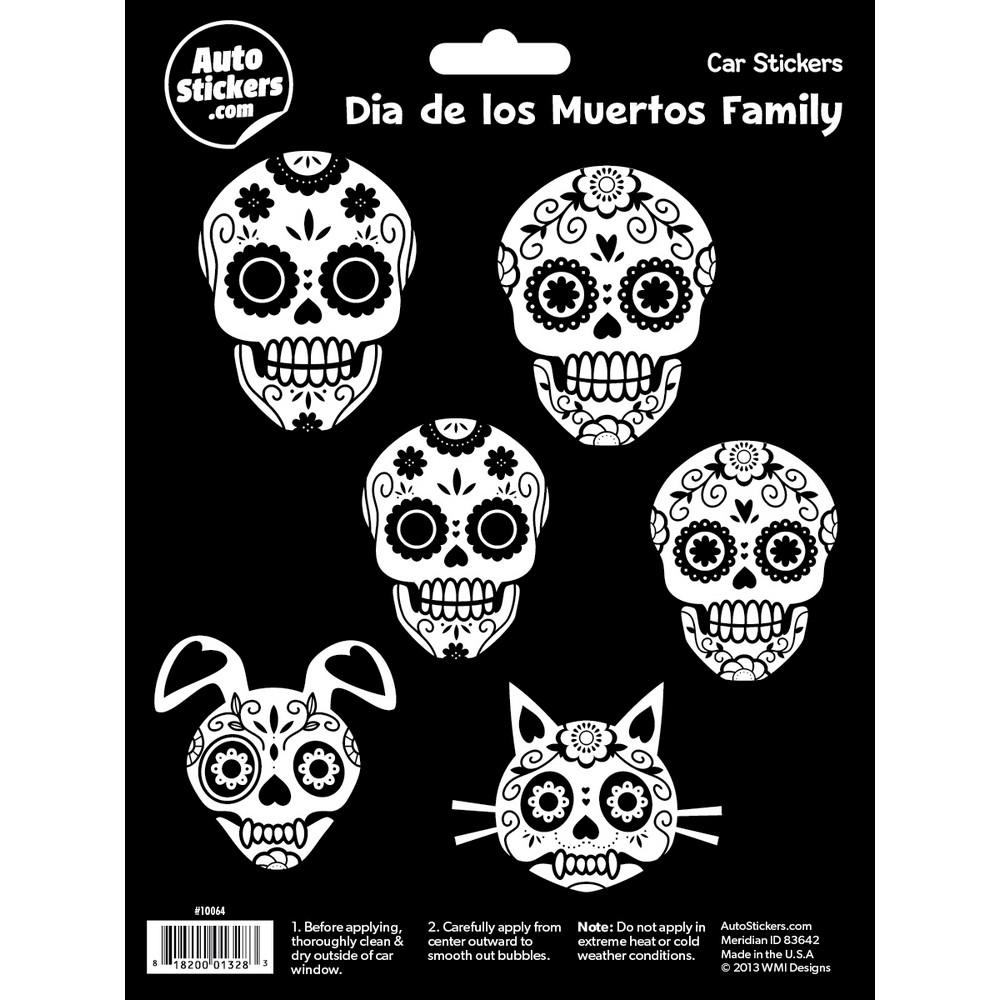 Dia De Los Muertos Family Sticker Family Stickers Family Car Stickers Family Decals [ 1000 x 1000 Pixel ]