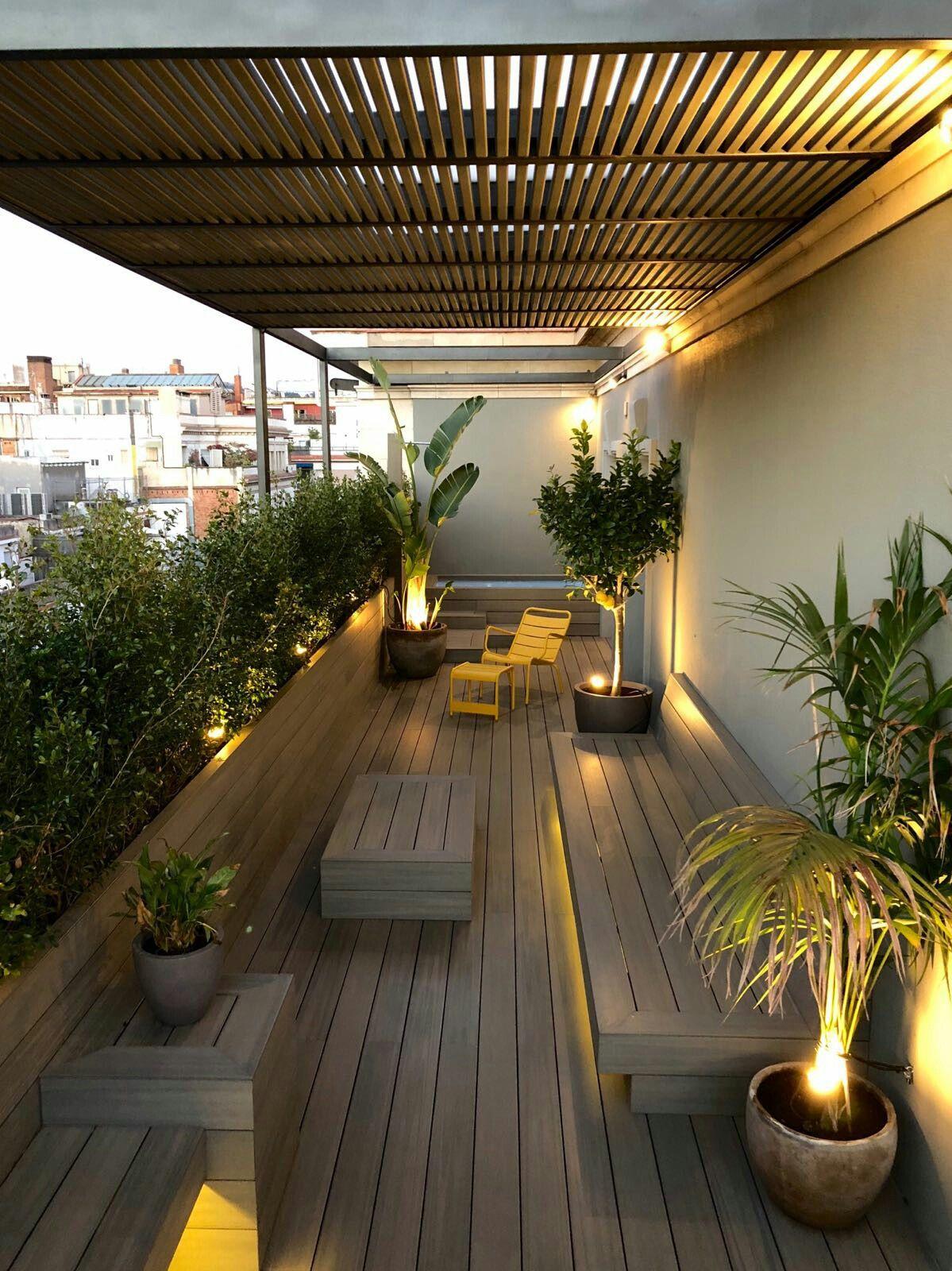 Pérgola Barcelona Balcony Garden In 2018 Terrazas