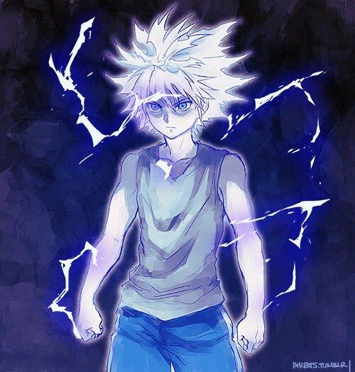 Killua God Speed Hunter anime, Hunter x hunter, Anime