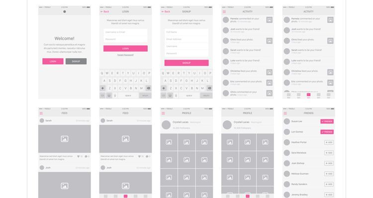 50 free wireframe templates for mobile web and ux design snap ios8 sketch photoshop ios iphone ipad mobile app free wireframe kit template ui design toneelgroepblik Gallery