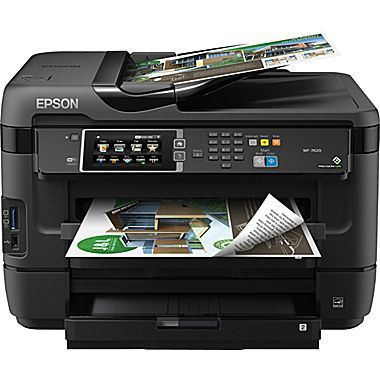 Epson Workforce Wf 7620 All In One Color Inkjet Printer C11cc97201 Epson Printer Inkjet Epson