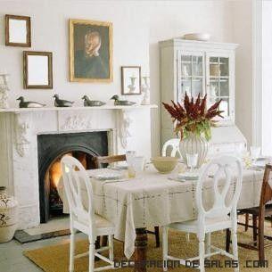 Comedores en blanco con chimenea | Ideas para el hogar | Pinterest ...