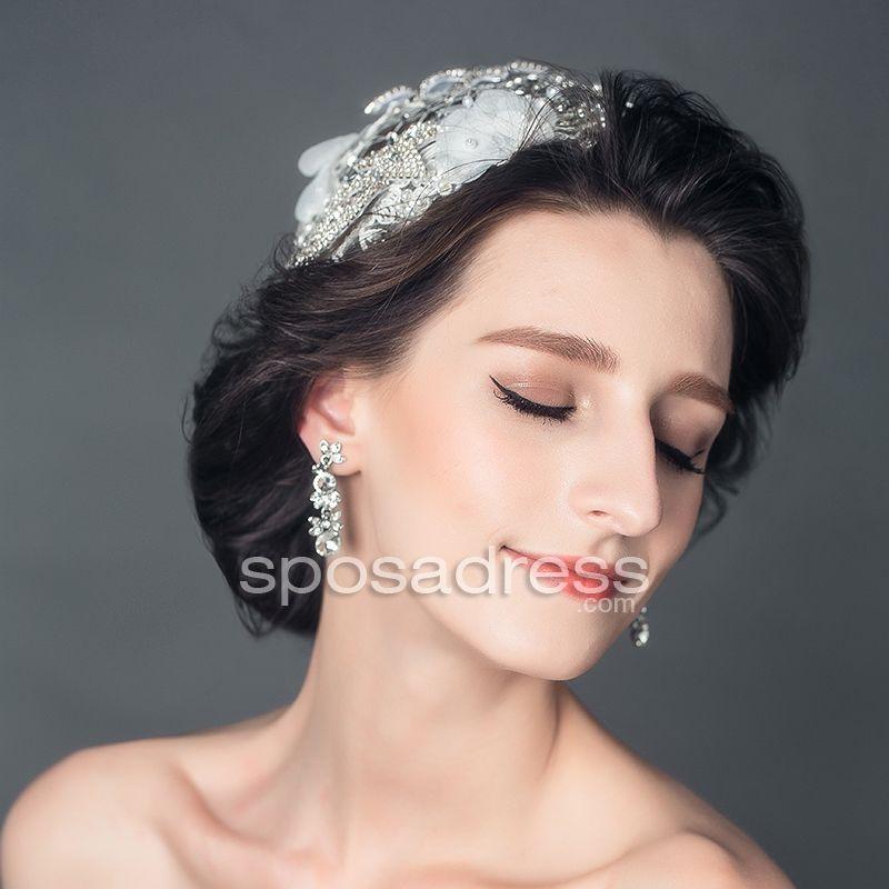 Crystals Charming Clear Rhinestone Bridal Hair Clip - Sposadress.com