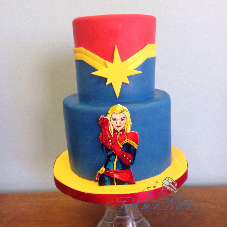 Captain Marvel Birthday Cake Marvel Birthday Cake Marvel Cake