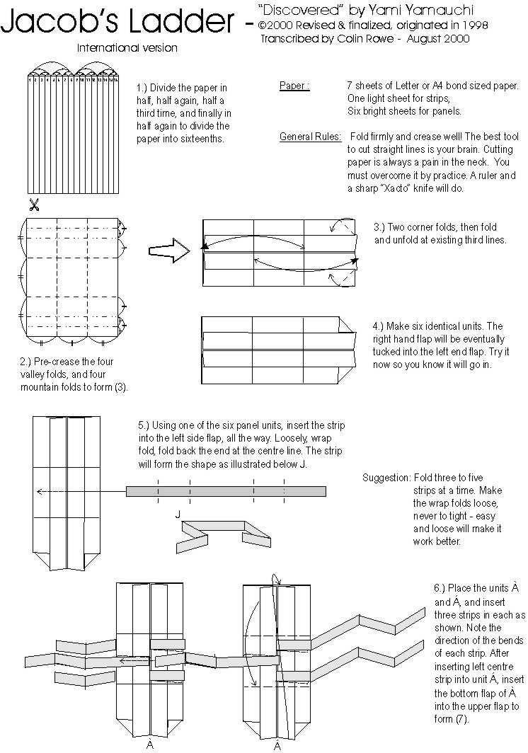 Jacobs Ladder Tutorial - Origami Squares - 2 Methods | Diy paper ... | 1064x746