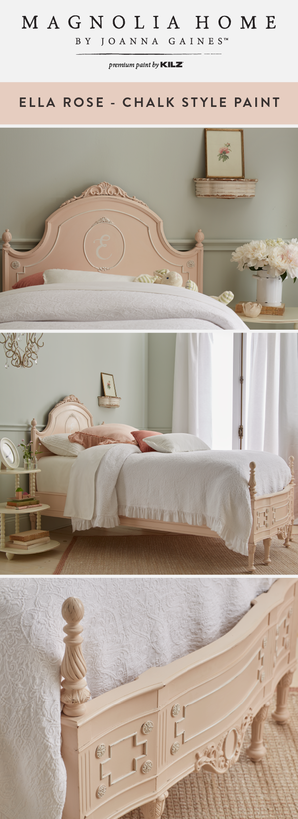 Ella Rose Chalk Style Paint Painted bed frames