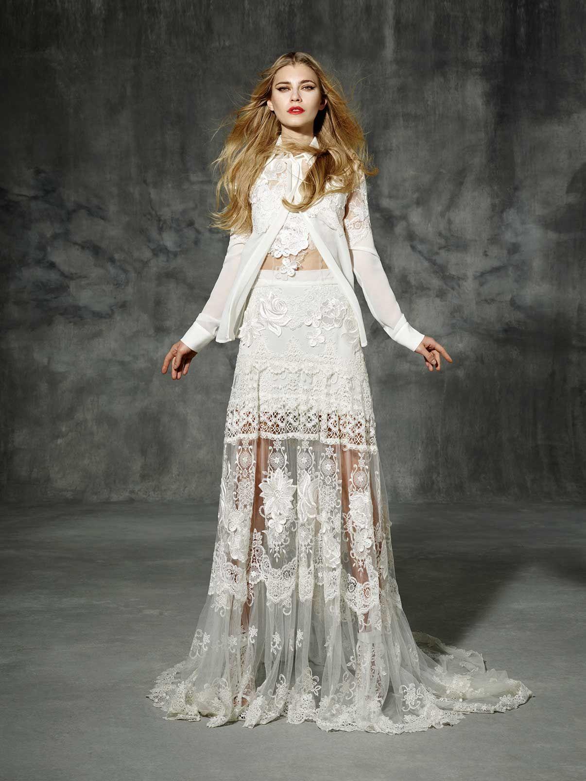 Provenza Yolancris Boho Folk Dress Barcelona 2016 Chic Novia Vestido Bride Wedding Gowns Bohemian Art Craft Differences Originals