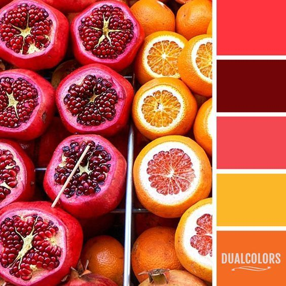 47 Farben Wände Ideen Farbpaletten: #Colorpalette #orange #red #yellow #hues #huesilove