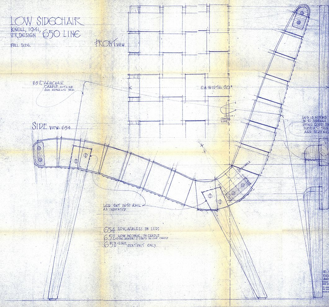 Blueprint for the 650 line lounge chair designed by jens risom c blueprint for the 650 line lounge chair designed by jens risom c 1943 malvernweather Choice Image