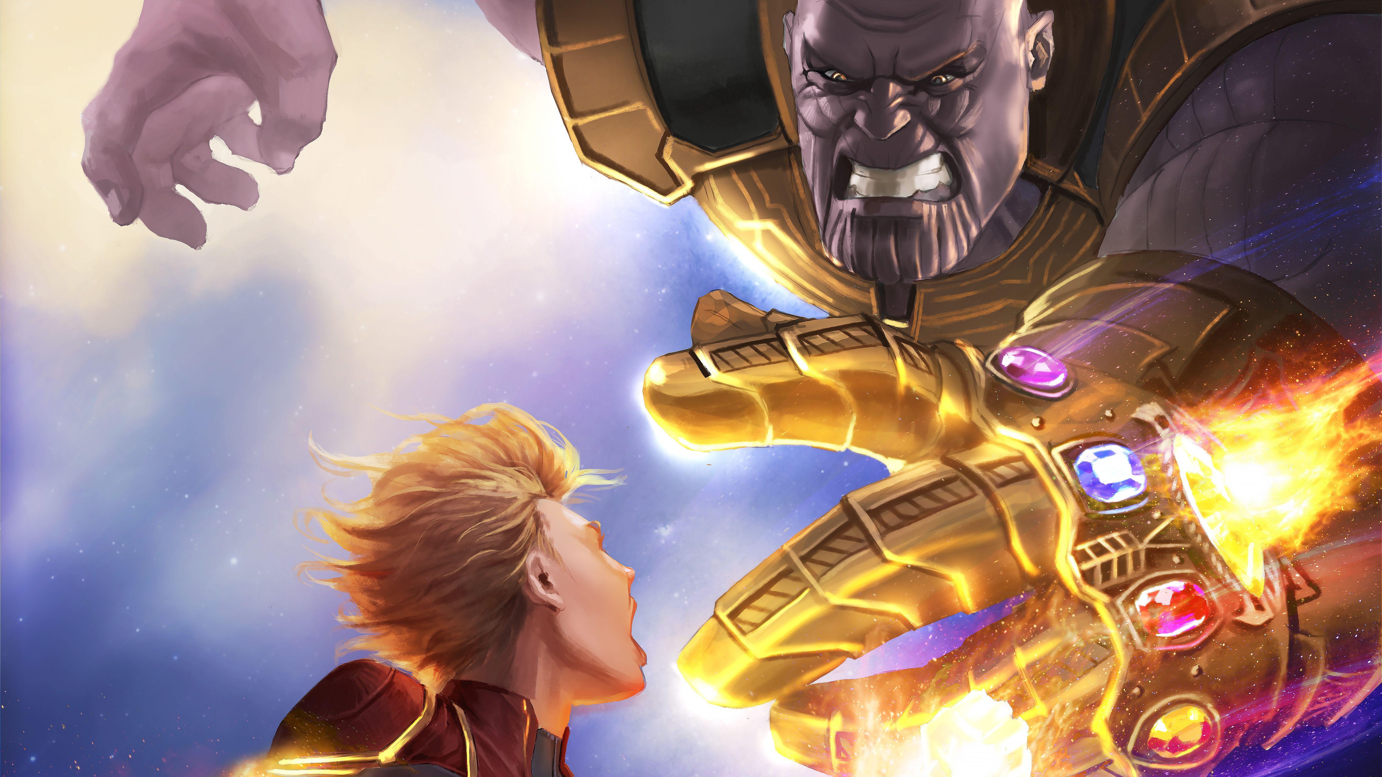 Captain Marvel Vs Thanos 5k Artwork Thanos Wallpapers Superheroes Wallpapers Hd Wallpapers Digital Art Wallpapers Marvel Wallpaper Marvel Vs Captain Marvel