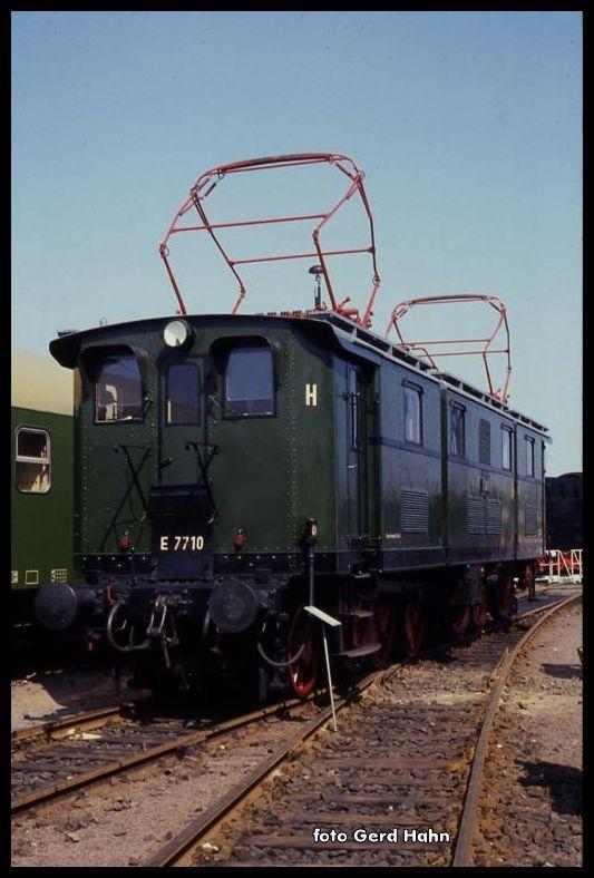 E 7710 in der Ausstellung des BW Magdeburg am 26.8.1990