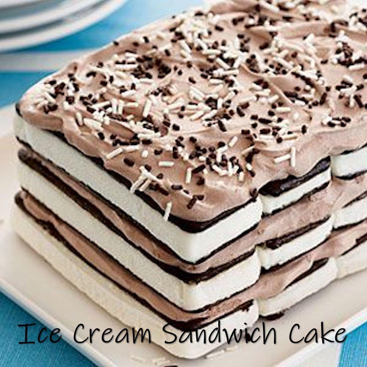 Ice Cream Sandwich Cake #icecreamsandwich Ice Cream Sandwich Cake | The Belly Ru...