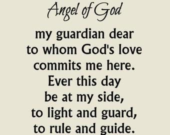 Angel Of God Prayer Print Guardian Angel Prayer 5x7 8x10 Etsy Guardian Angels Prayer God Prayer Angel Prayers