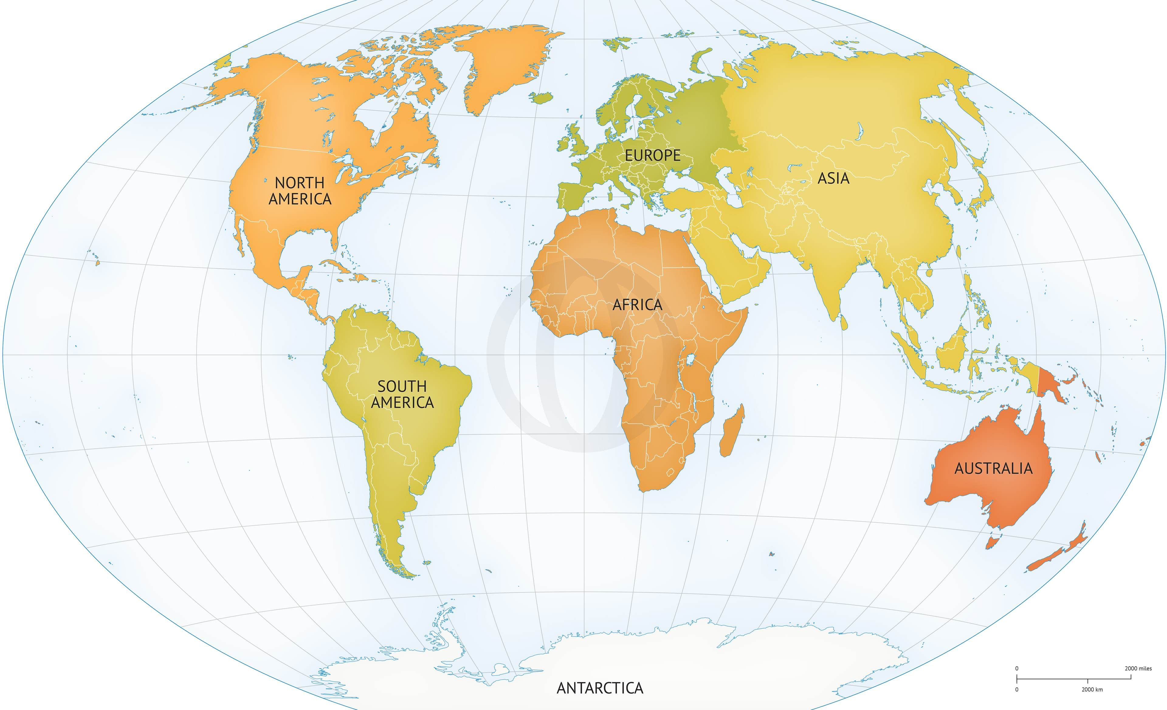Vector map of world continents political vector map of world continents political one stop map gumiabroncs Choice Image