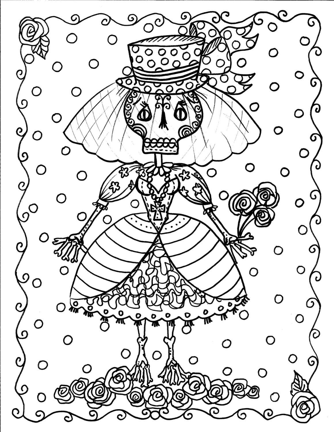 Instant Download Halloween Coloring Pages Art To ChubbyMermaid