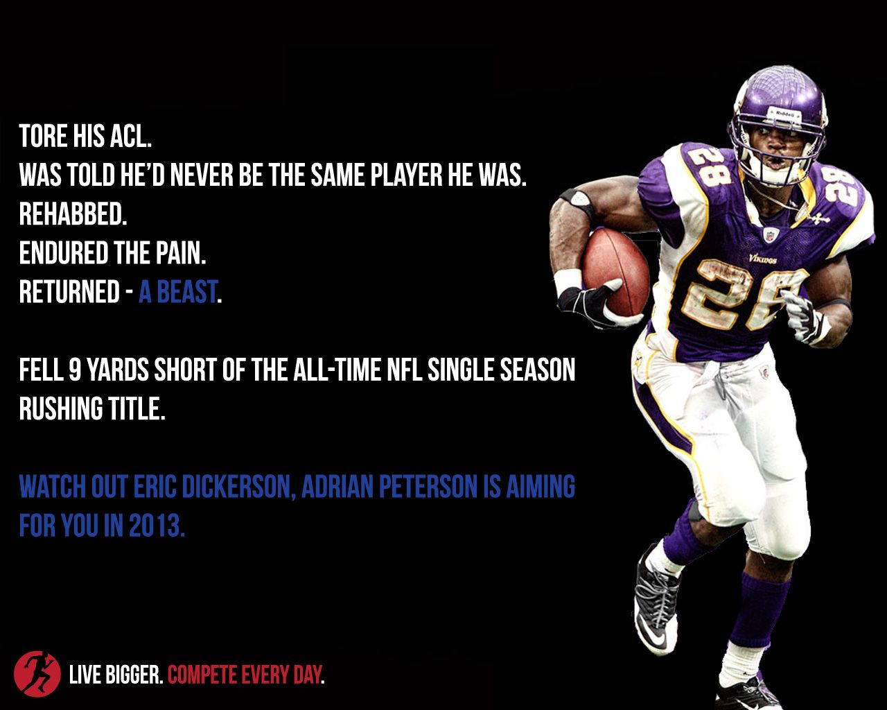 Adrian Peterson Set The Bar High For Recovery From An Acl Injury