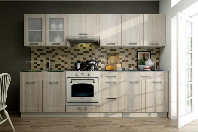 Küchenblock Monika 2,6m Die hervorragende Trendküche