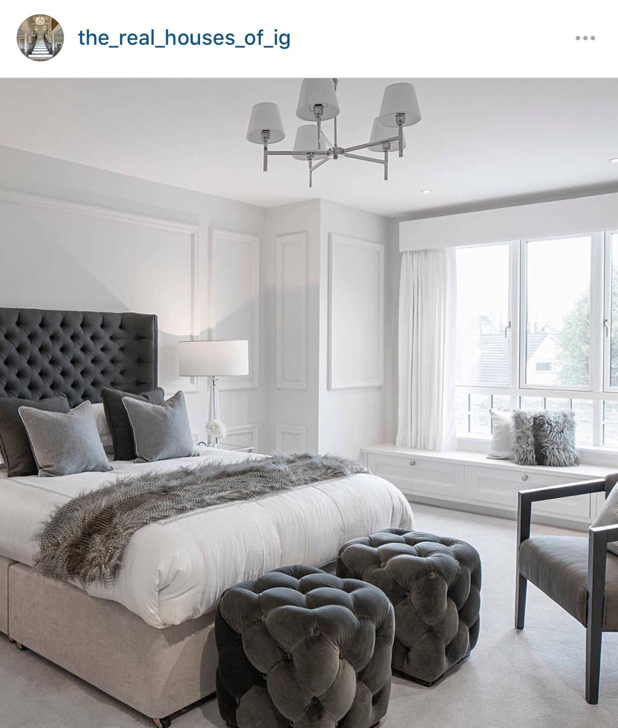 White and Gray bedroom theme | B E D | G U E S T S in 2019 ...