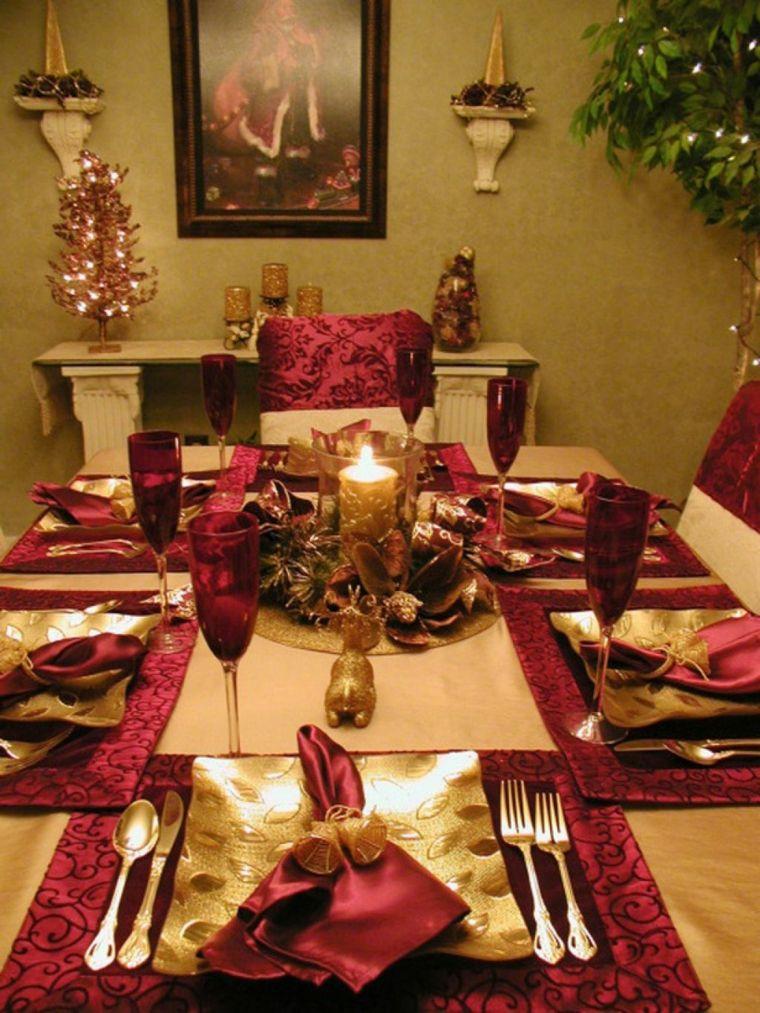 Adornos Navidenos Para La Mesa Cincuenta Ideas Geniales Mesa De Navidad Centros De Mesa Navidenos Mesa Navidad Decoracion