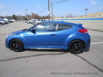 2016 Hyundai Veloster 3dr Coupe Manual Turbo Rally Edition 3dr Coupe Manual Turbo Rally Edition Manual Gasoline 1 6l 4 Cyl Blue Hyundai Veloster Coupe Turbo