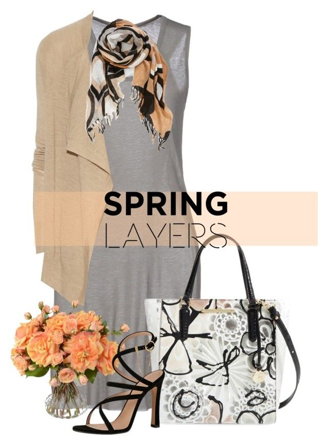 """neutral mix"" by rvazquez ❤ liked on Polyvore featuring Ilaria Nistri, Enza Costa, Brahmin, New Growth Designs and Halogen"