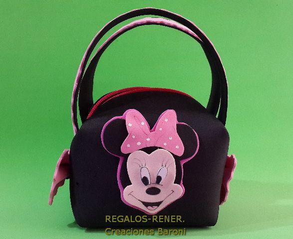 Minnie carteritas golosineros con cierre en goma eva - Manualidades minnie mouse ...