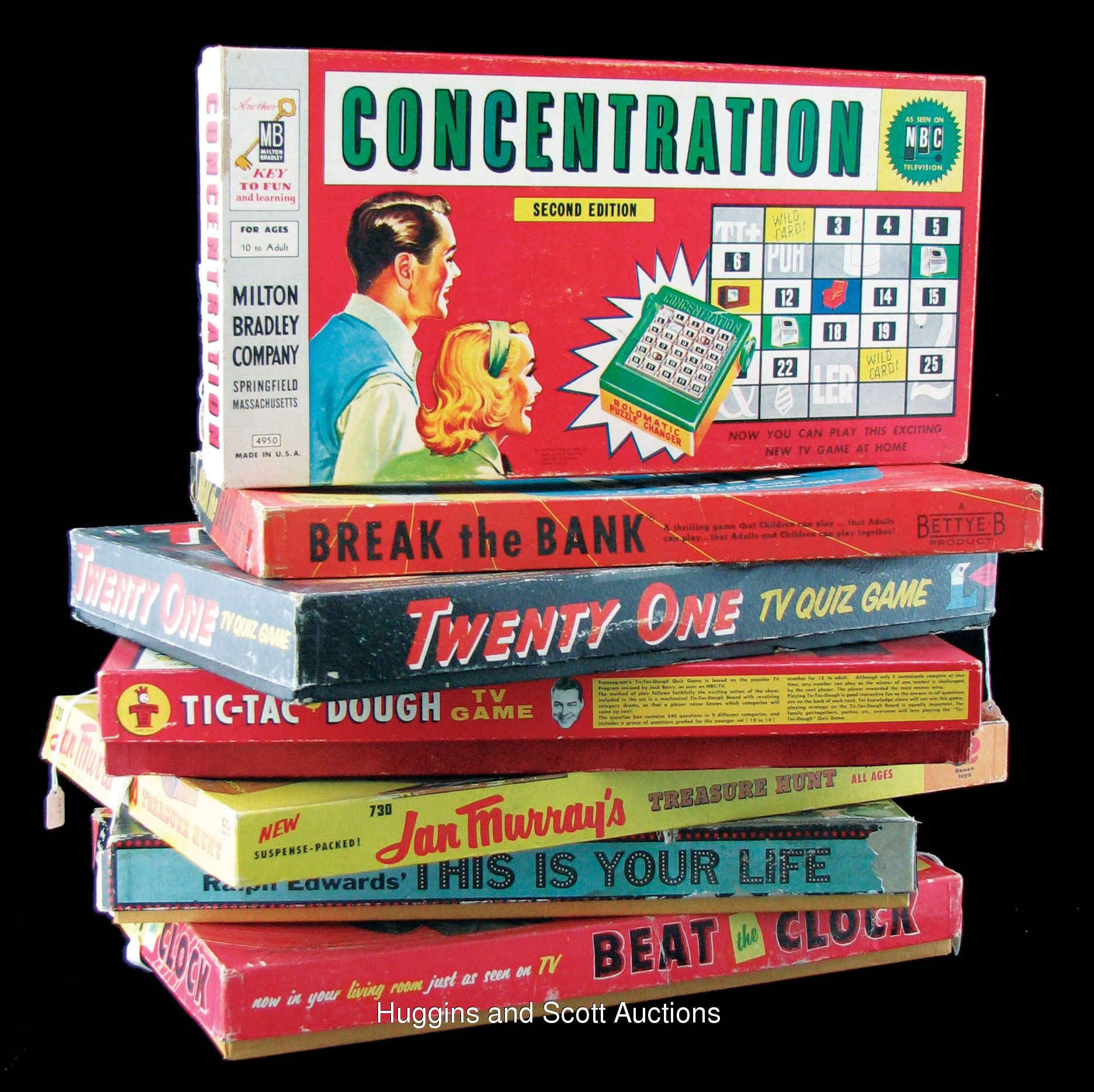 Vintage 1950s TV Game Show Board Games Tv show games