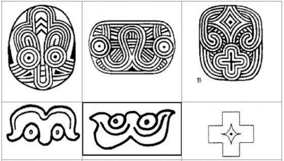 Indian Glyphs Designs Top Row Look Like Mayan Starvenus