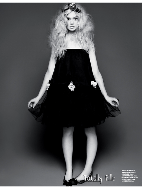 Elle Fanning and 7Hollywood Magazine Photograph