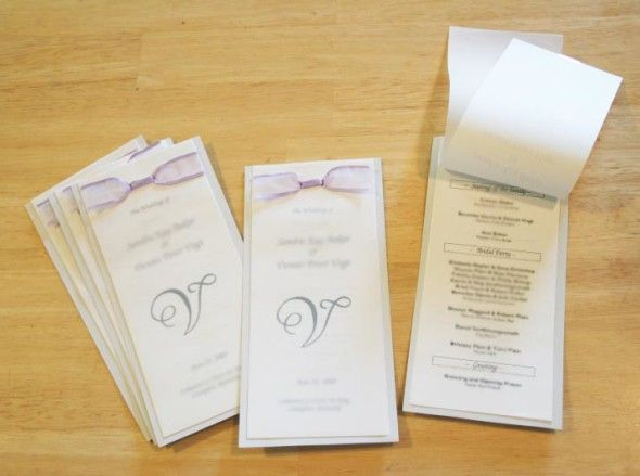 Diy Instructions On How To Make Your Own Booklet Style Template At The End Of Post Wedding Programs