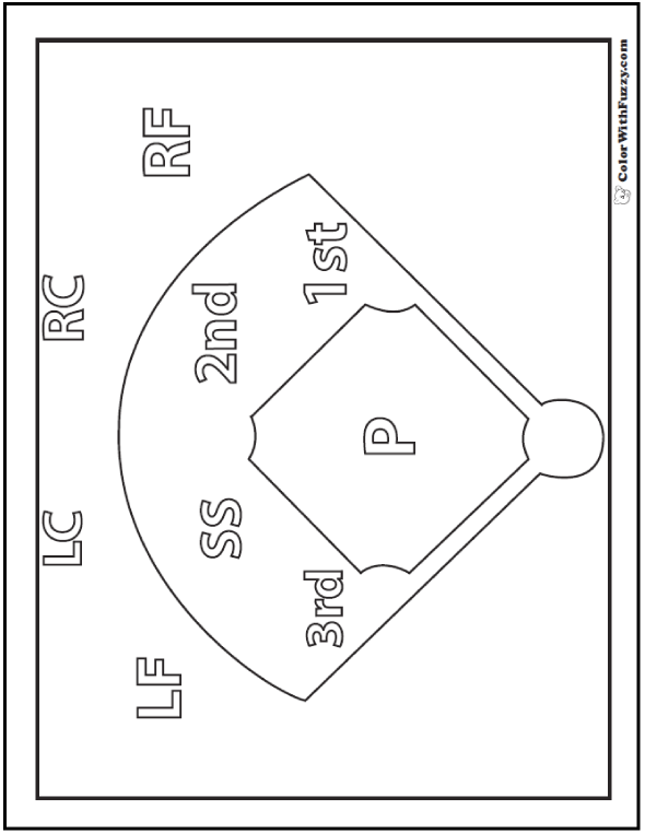 Baseball Coloring Pages Customize And Print Pdfs Baseball Coloring Pages Baseball Field Baseball Quilt