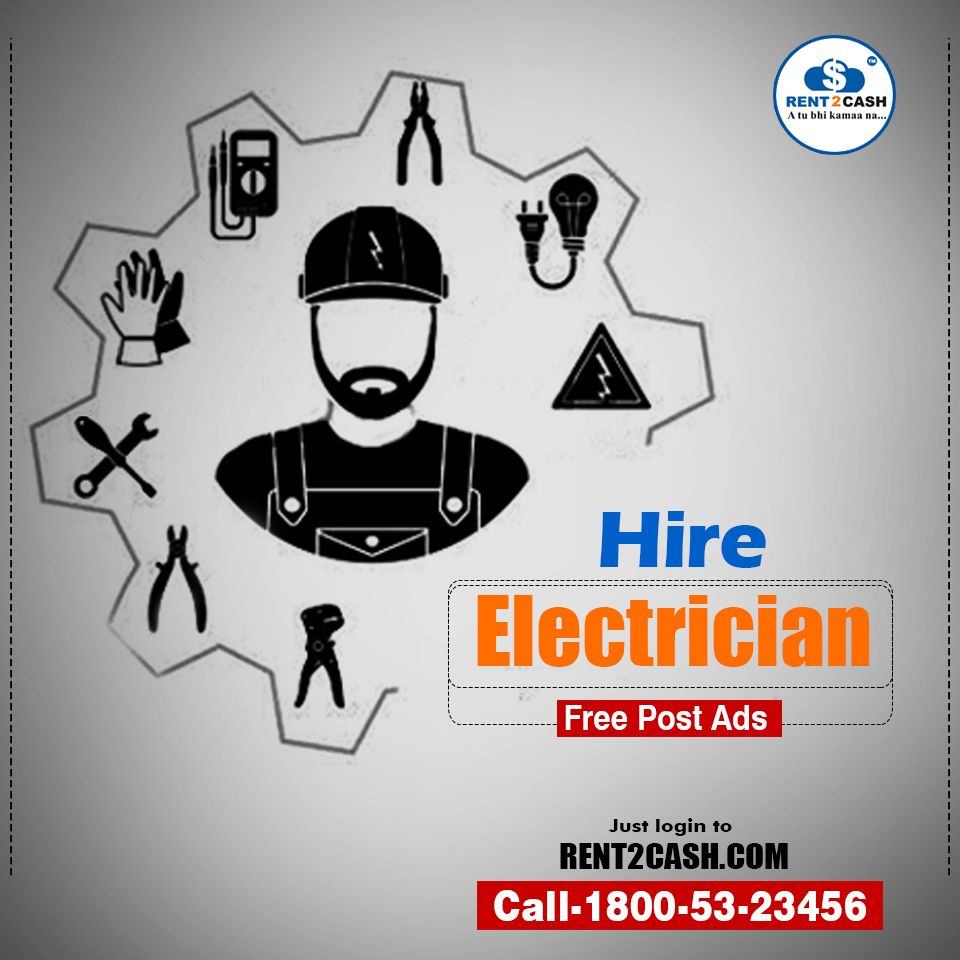 An Electrician Is A Specialized Person Who Can Do Electrical Wiring House Logo In Buildings Or Househire Near Your Location From Rent2cash