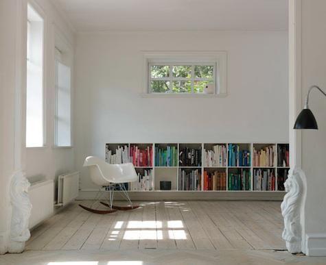 organizar os livros por cores