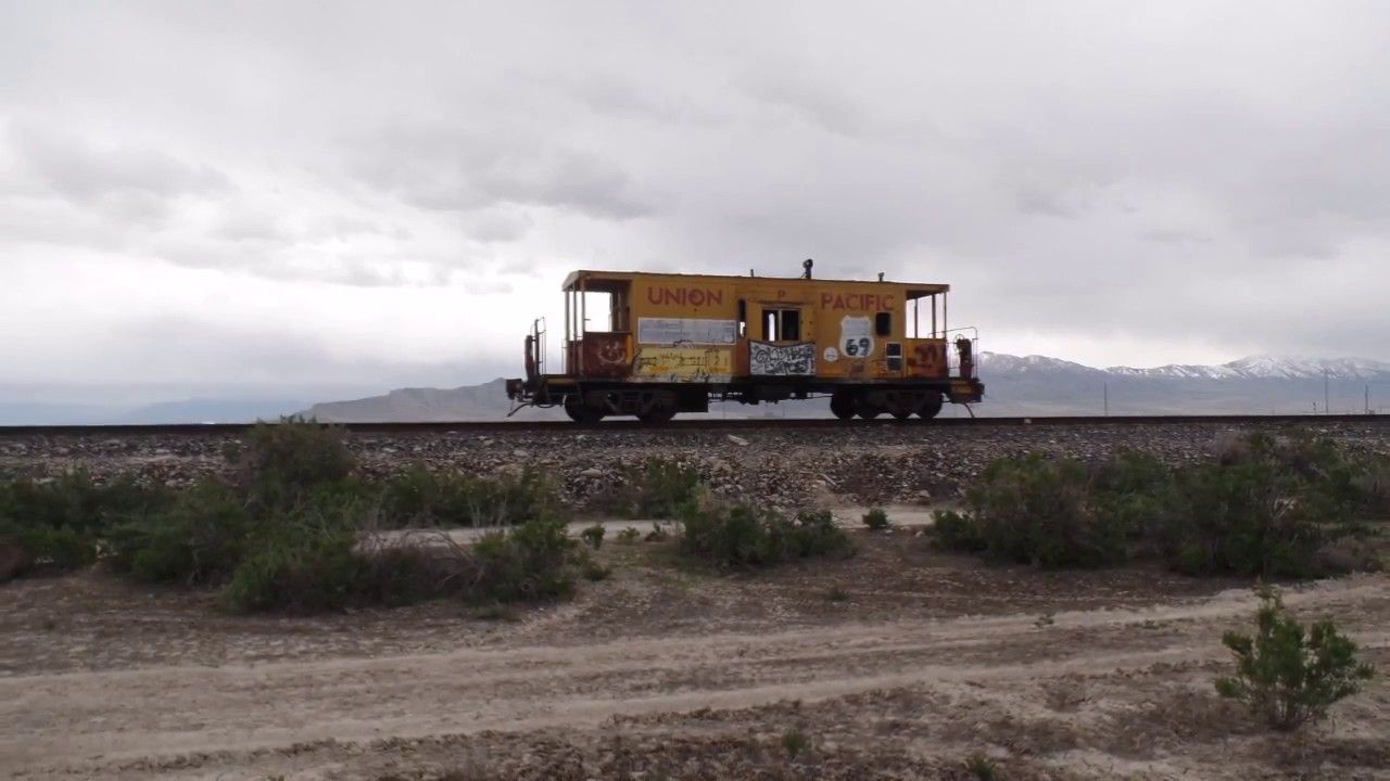 Old Union Pacific Caboose in Utah Desert - YouTube   Caboose