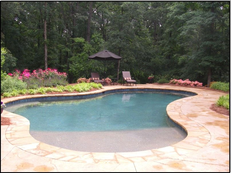 swimming pools with beach entry   Swimming Pool design classic ...