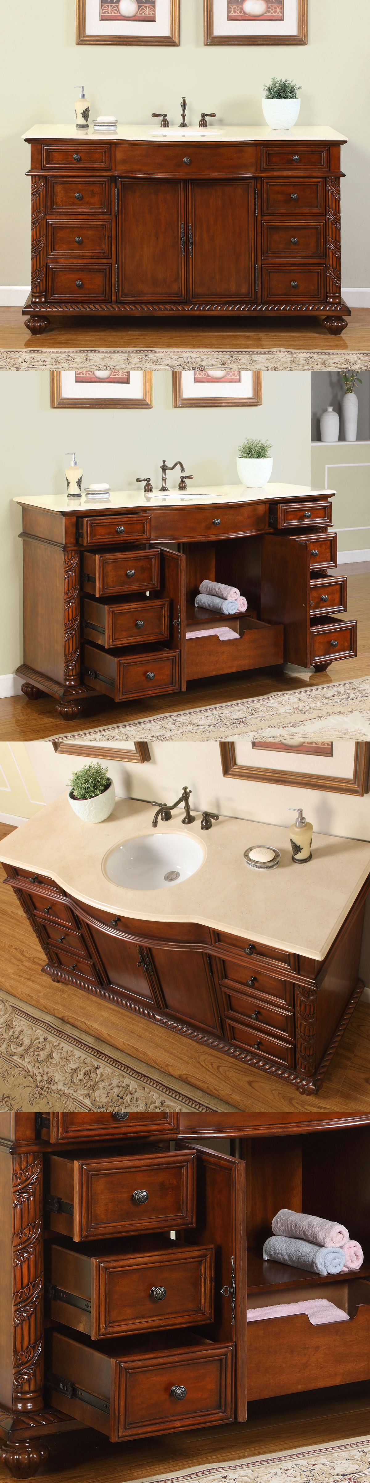 Pictures In Gallery Vanities Cm Single Bathroom Vanity Cabinet White Sink And Marble Stone Top