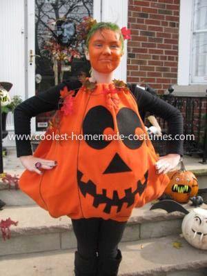 Coolest Girl S Pumpkin Costume Pumpkin Costume Tween Halloween Costumes Jack O Lantern Costume